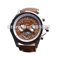 Luxury Brown Dial Mens AUTO Watch 6 Hand Mechanical Watch Wrist Watch Nice Gift Wholesale Price FL00013