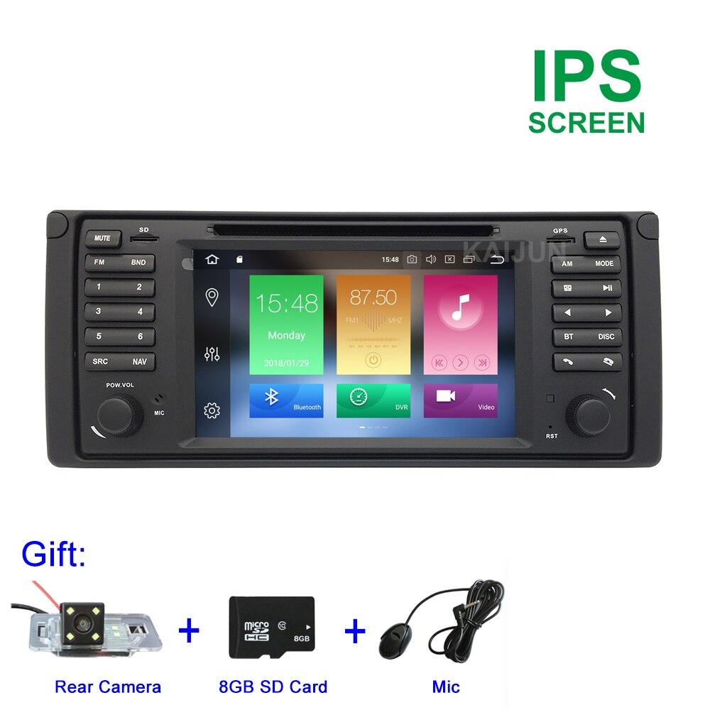 Schermo IPS Octa core Android 8.0 Lettore DVD Dell'automobile per BMW E39 con WiFi BT Radio di Navigazione GPS 4 gb di RAM