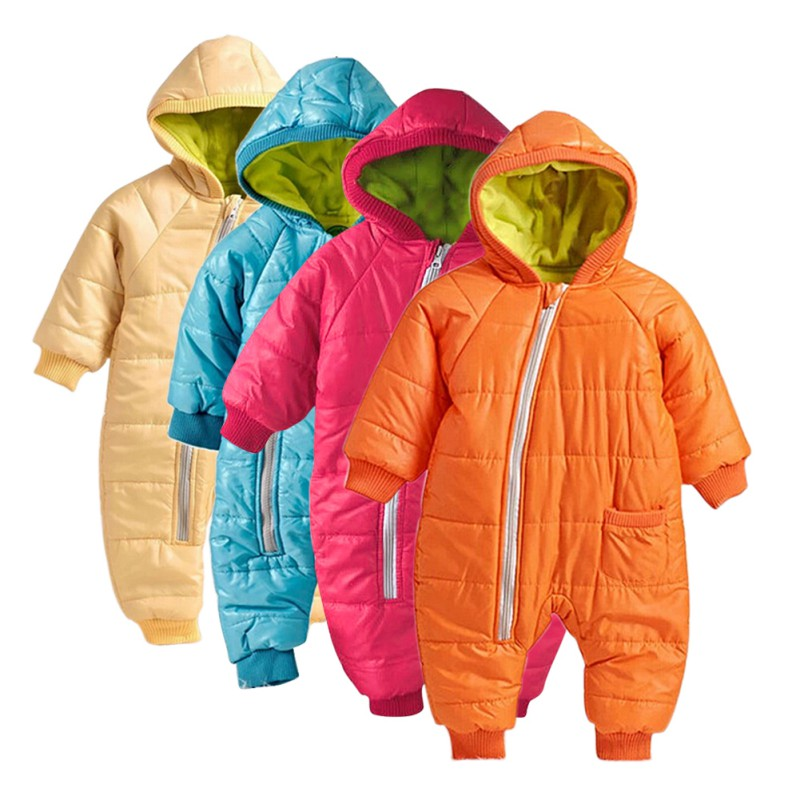 33dc14039 COOTELILI Winter New Born Baby Boys Clothes Baby Girl Romper Warm ...