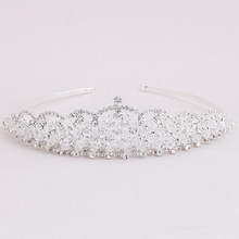 2017 New Arrival Elegant Rhinestones Crystals Wedding Tiara Bridal Bridesmaids Hair Accessories Princess Pageant Royal Crown