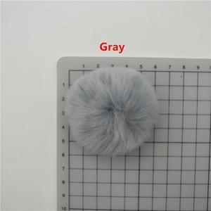 Image 5 - 25 stks 5 cm Zeer Zacht Rex Konijn Pluizige Haarbal Pompons voor Oorbel Ornamenten Pluche Bal Haarspeld Hoofdtooi