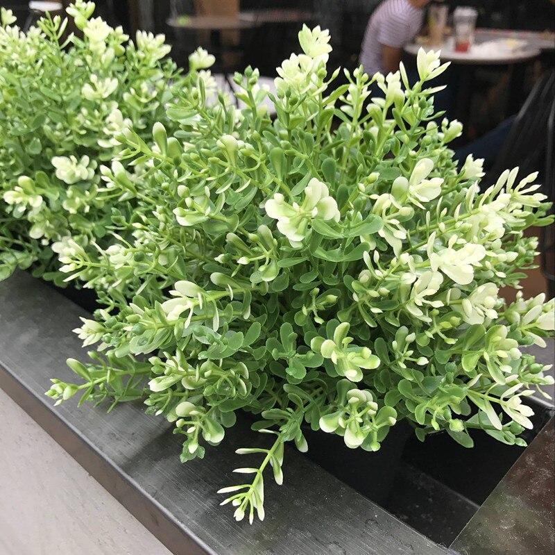 Fiori Artificiali Milano.7 Ramo Fiore Artificiale Bouquet Di Plastica Verde Milano Piante