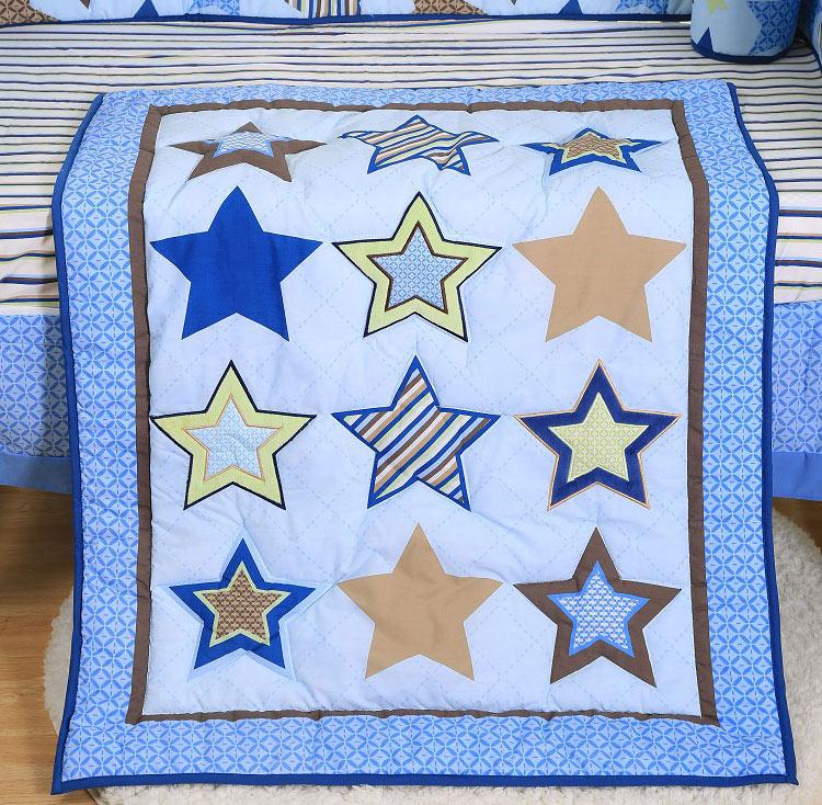 1 шт., Хлопковое одеяло для детской кроватки, 33*42, для мальчиков и девочек, Универсальное Детское одеяло с мультяшным принтом, детское одеяло, одеяла для кроватки, детские вещи для новорожденных - Цвет: comforter only1
