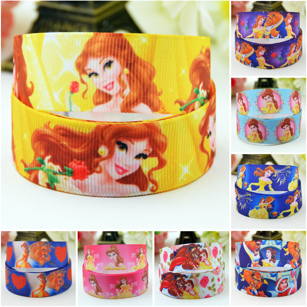 1 2 3 METRE BEAUTY AND THE BEAST BELLE PRINCESS GROSGRAIN RIBBON 22MM 7//8/""