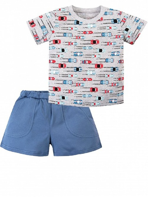 "Костюм для мальчика ""Веселый малыш"" для мальчика шорты+футболка"