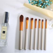 7Pcs Professional Makeup Brushes Set Comestic Powder Foundation Blush Eyeshadow Eyeliner Lip Traval YA50-7