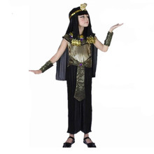 Faraón egipcio Niños Disfraces Cosplay Nueva childen niños Carnaval de la mascarada de Halloween costume Cleopatra real(China (Mainland))