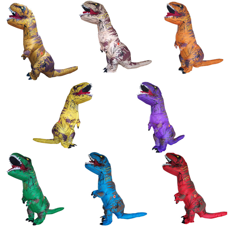 Inflatable Costume Adult Kids Dinosaur T REX Costumes Blow