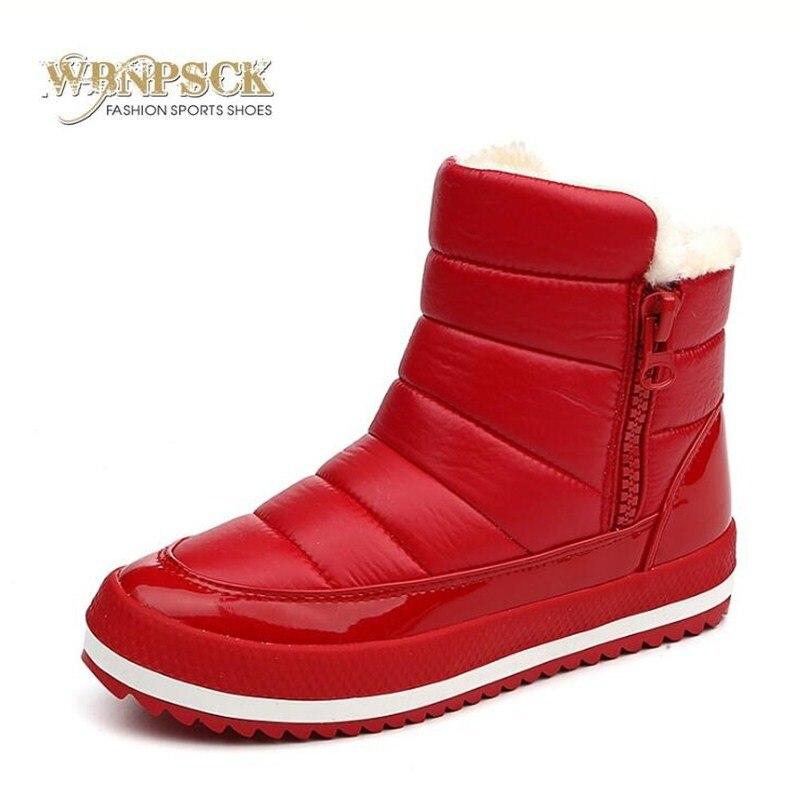 2018 De 40 rojo Otoño Corto 35 Oscuro Cremallera Inferior Goma Algodón Caliente Pu Plush Mujeres Mujer Tamaño Botas Negro Lateral Nieve Las Zapatos gris Nueva xISqRdwq
