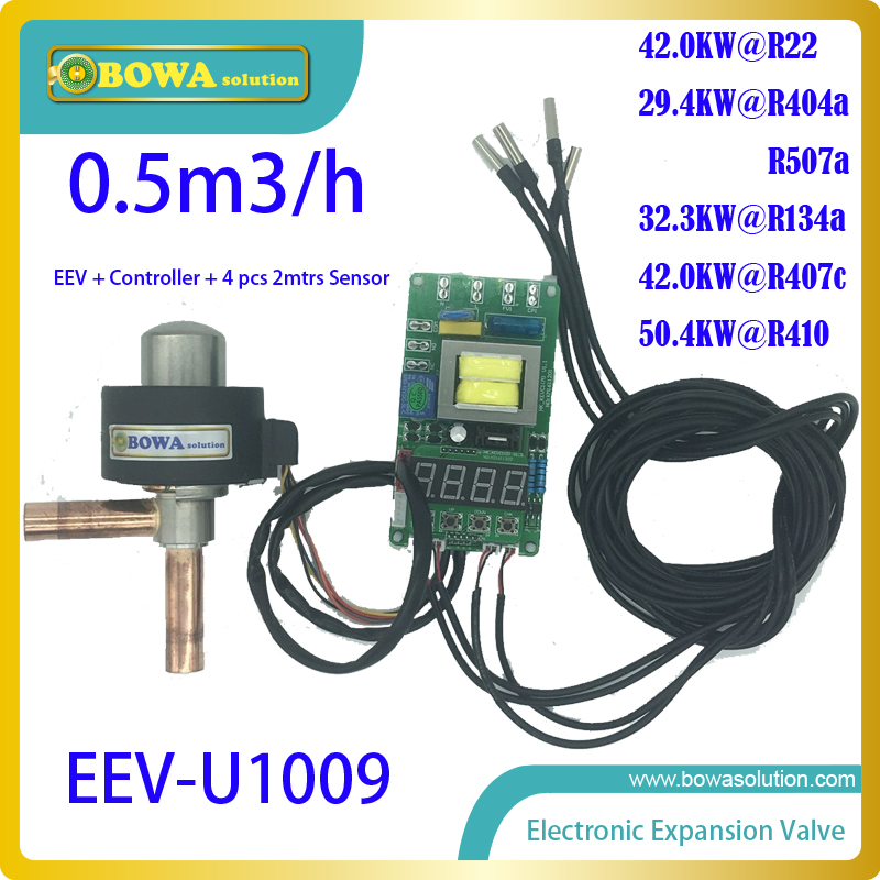 EEV with contoller and temperature sensors compatible with HFC, CFC and HCFC refrigerant of HVAC/R equipments and systems sb0864 industrial temperature sensors sonde ve go 154 mr li