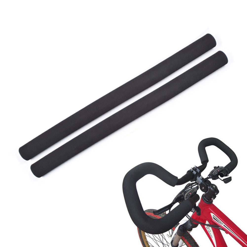 1 Pair Bicycle Cycling Skidproof Handle Bar Sponge Cover Soft Foam Matte Handlebar Grips For 22.2mm Bicycle Accessories