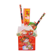 New Christmas Children Gift Student Kids Stationery Suit Pen House Learning Supplies Table Ornaments Decoration Wholesale S#60(China)