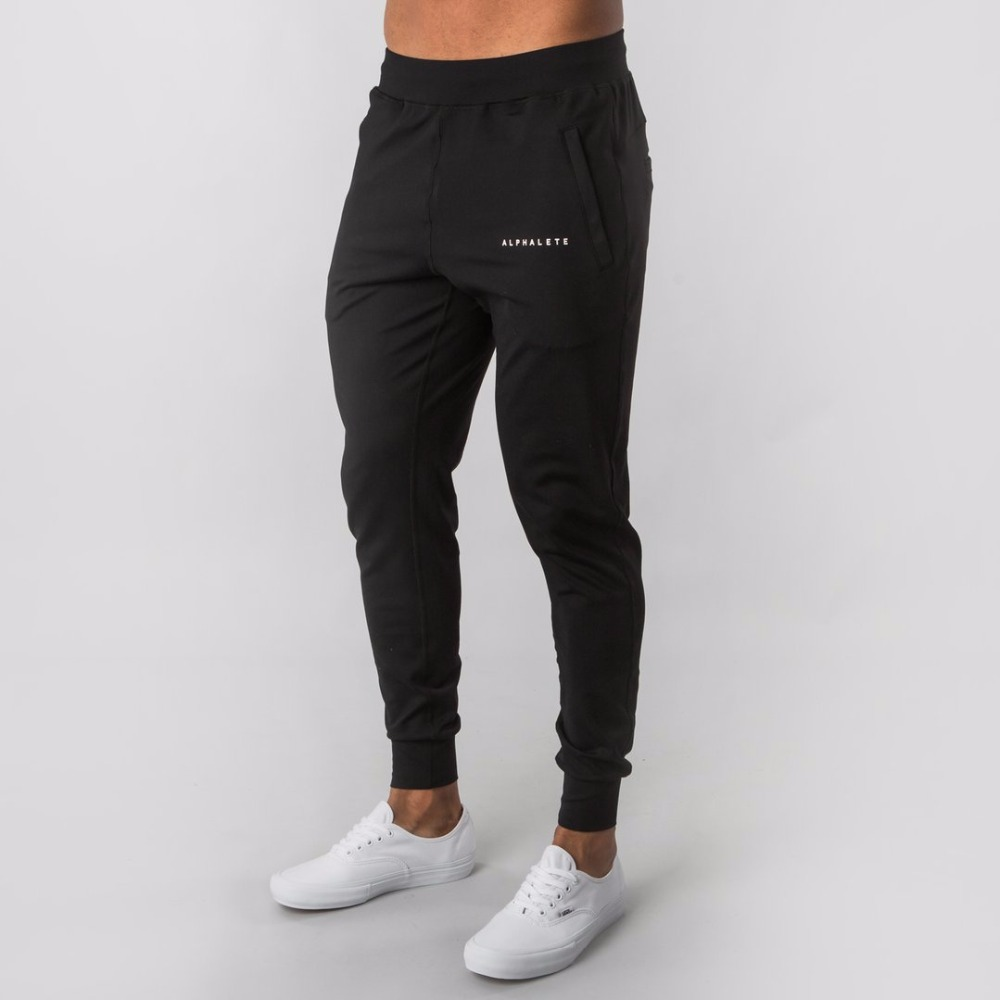 ALPHALETE Brand Autumn Winter Fitness Men Gyms Pants Fashion Cotton Pencil Pants Bodybuilding Trousers High Quality Jogger Pants