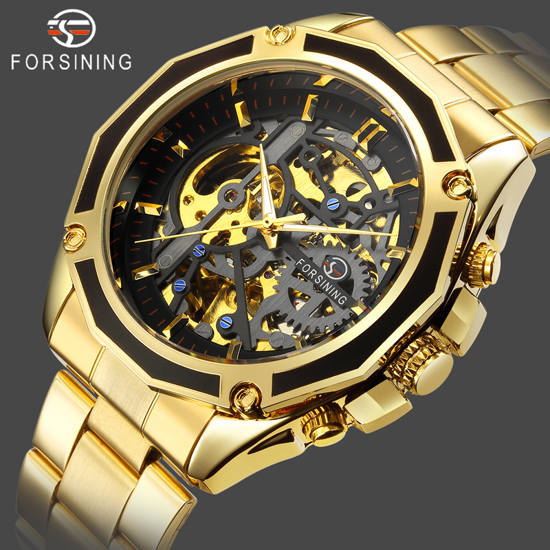 FORSINING Self Winding Mechanical Watch Mens Automatic Skeleton Watches Men Luxury Business Wristwatch Male Waterproof Clock|Mechanical Watches| |  - title=