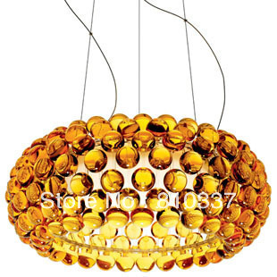 Modern 50cm Foscarini Caboche Ball Gold/Yellow Lamp Glass Crystal Ceiling Light Lighting EMS free shipping