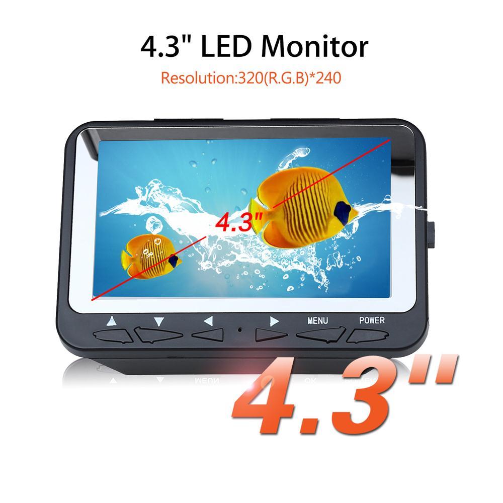 waterproof Fish Finder Video Underwater Ice Video Fishfinder Fishing Camera Infrared LED 4.3 inch monitor HD camera 15M cable 30m video cable underwater ir camera spare parts for fishfinder fish finder camera ff118