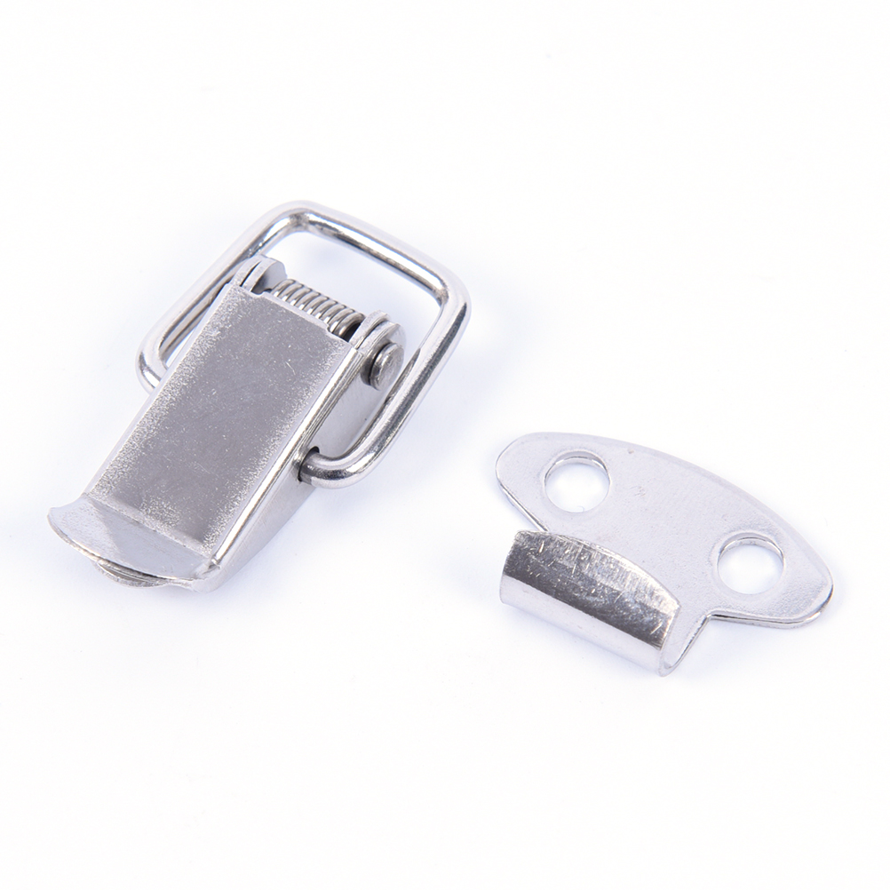 2 Pcs 28mm Length Box Chest Case Spring Loaded Draw Toggle Latch Spring Latch With Excellent Anti-corrosion Properties Whosesale