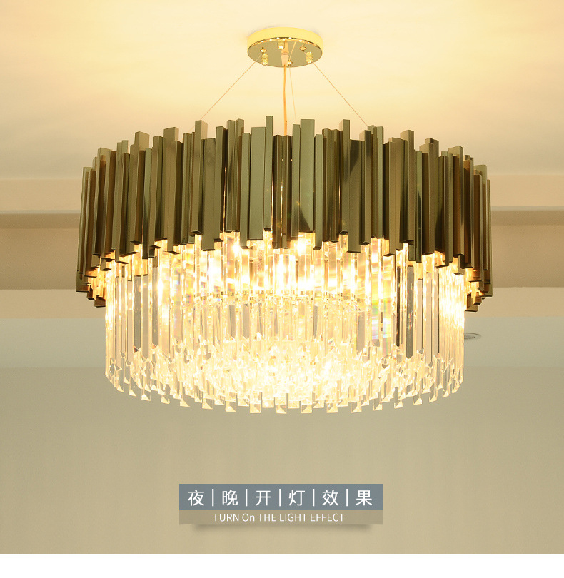 New Modern Lighting Chandelier Luxurious Crystal Chandelier for Living Room Dining Room Gold Crystal Chandelier LED LightsNew Modern Lighting Chandelier Luxurious Crystal Chandelier for Living Room Dining Room Gold Crystal Chandelier LED Lights