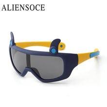 ALIENSOCE Bebé Muchachas de la Marca de fábrica Embroma Una Len Gafas de Sol Polarizadas gafas de Los Niños Gafas de sol 100% UV Gafas De Sol Gafas