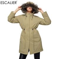 Women S Warm Plush Faux Fur Hooded Down Parkas Plus Cashmere Lined Parkas And Belt Design