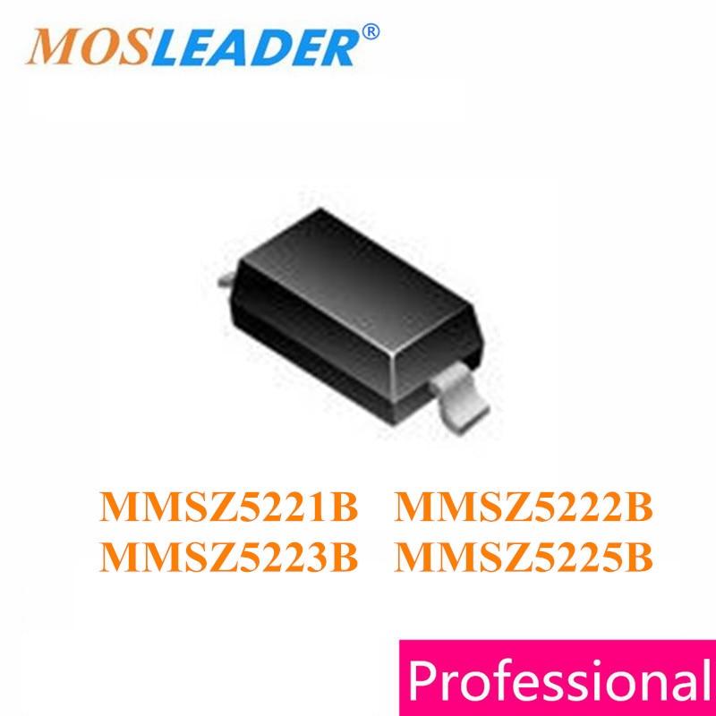 Mosleader 1000pcs 3000pcs SOD123 MMSZ5221B MMSZ5222B MMSZ5223B MMSZ5225B 1206 MMSZ5221 MMSZ5222 MMSZ5223 MMSZ5225 Zener mosleader dip pt908 7c f 1000pcs