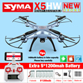 Syma X5HW FPV RC Quadcopter Drone with WIFI Camera  2.4G 6-Axis VS Syma X5SW Upgrade dron RC Helicopter Toys with 6 battery
