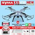 Syma x5hw fpv rc quadcopter drone con cámara de wifi 2.4g 6-axis vs syma x5sw actualización dron helicóptero rc toys con 6 batería