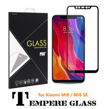 100X 9H 3D Curved Full Cover MI8 SE Tempered Glass Screen Protector for Xiaomi xiomi MI 8 Whole Protective film