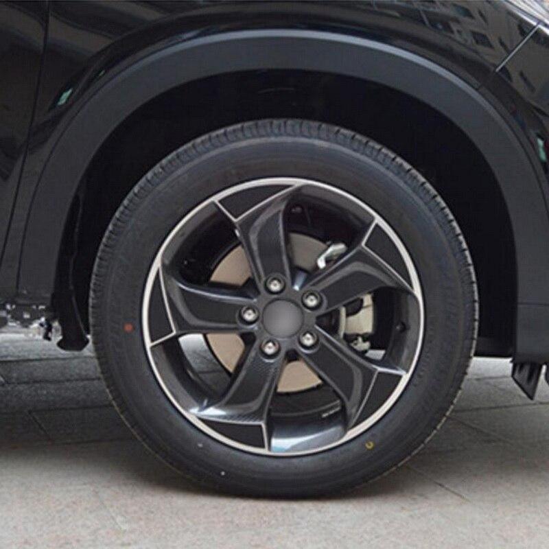 Tonlinker 1 шт. на 4 колеса DIY автомобиль стиль 17 дюймов Углеродные, для колес волокна Защитный чехол наклейки для Honda vezel HRV