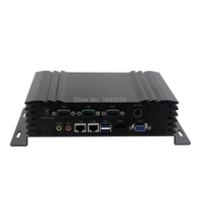 X86 Fanless PC Embedded Computers Linux 1*DC-in 12V/2GB Ram/500gb HDD