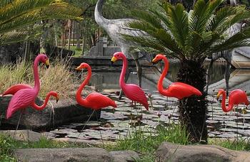 Large Bright Pink Flamingo Yard Ornament/ Flamingo Lawn Ornaments/ink Flamingo Garden Yard Stakes SET of 2 фото