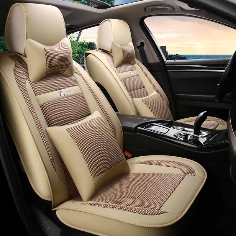 Juego de fundas de asiento de coche Almohadillas protectoras de auto universales para citroen berlingo c olysee c2 c3 c4 picasso pallas c4l c5 ds5 Xara