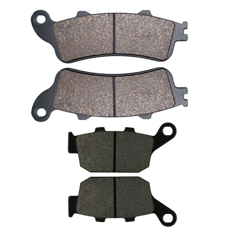 2 Pairs Motorcycle Front and Rear Brake Pads for HONDA  FES125 FES 150 3/4/5 Pantheon FES 250 Y/1/2/5 Foresight Black Brake Pads motorcycle rear brake pads fit for malaguti madisont 125 250 f18 spidermax rs scarabeo300 password250 r125 phantommax