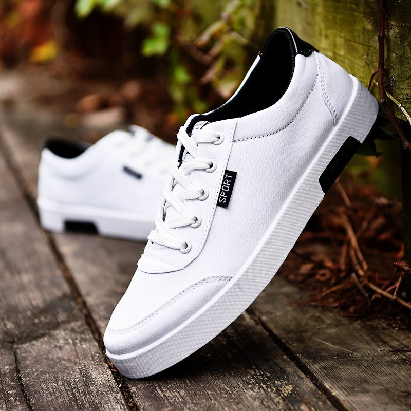 Men Outdoor Leather Students Sports Athletic Sneakers Walking Casual Board Shoes