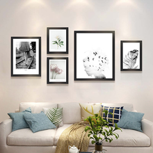 Hotel gallery decor painting canvas no photo frame Home modern art flower feather letters abstract promotion new home Sale