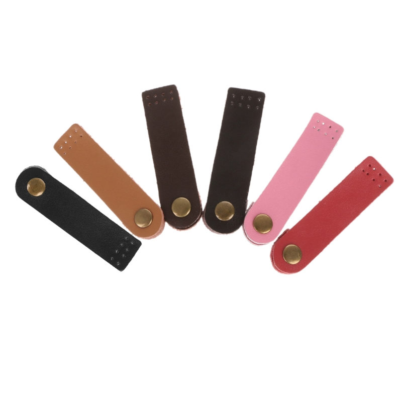 THINKTHENDO Leather Bag Buckle Handmade Wallet Card Pack Buckles for DIY Handbag Accessories 6 Color round handmade wallet semi cirle knife handmade leather diy tool