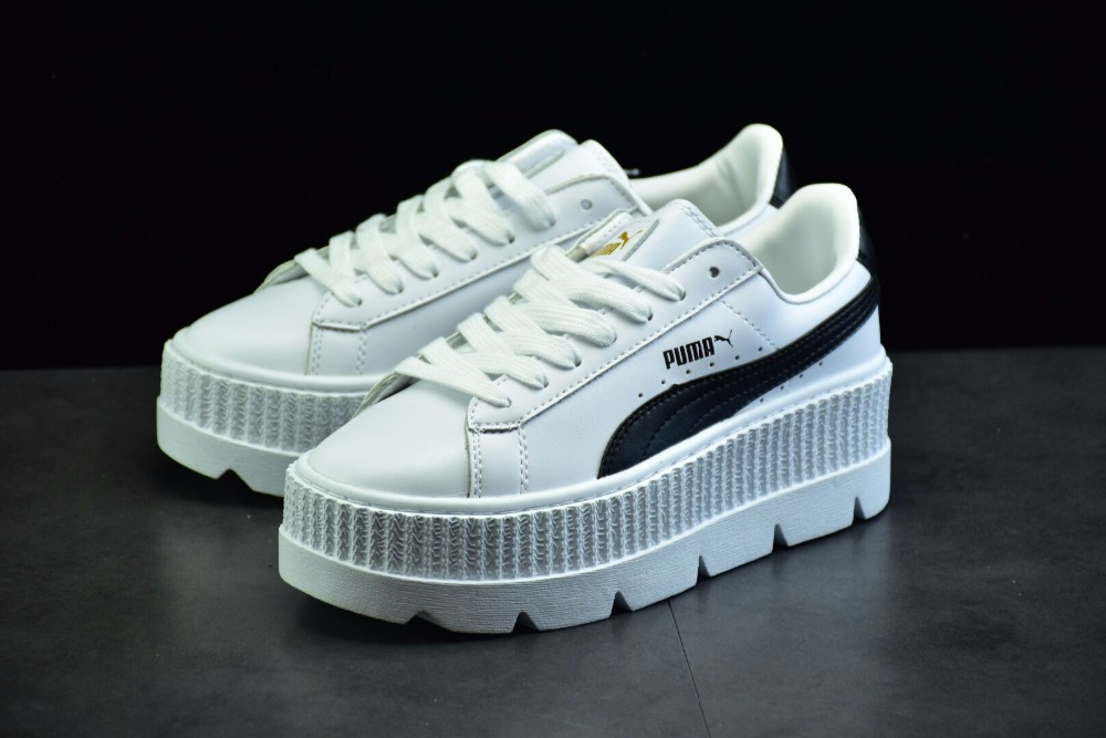 New puma thick bottom Fenty Suede Cleated Creeper sapatos  Womens badminton shoes
