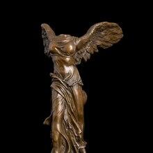 ATLIE Bronzes Victory Statue  Goddess Samothrace  Vintage  home decor Arts Sculptures  angel figurine Christmas Gift  Souvenirs