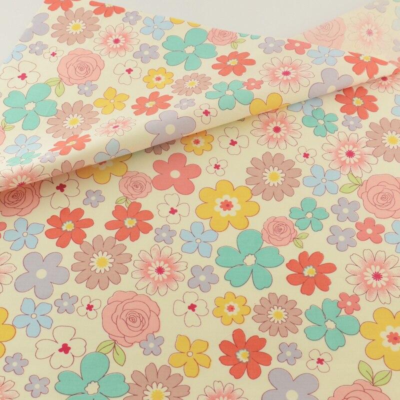 Flor de algodón ropa de tela patchwork quilting coser cubierta de tela ropa de c