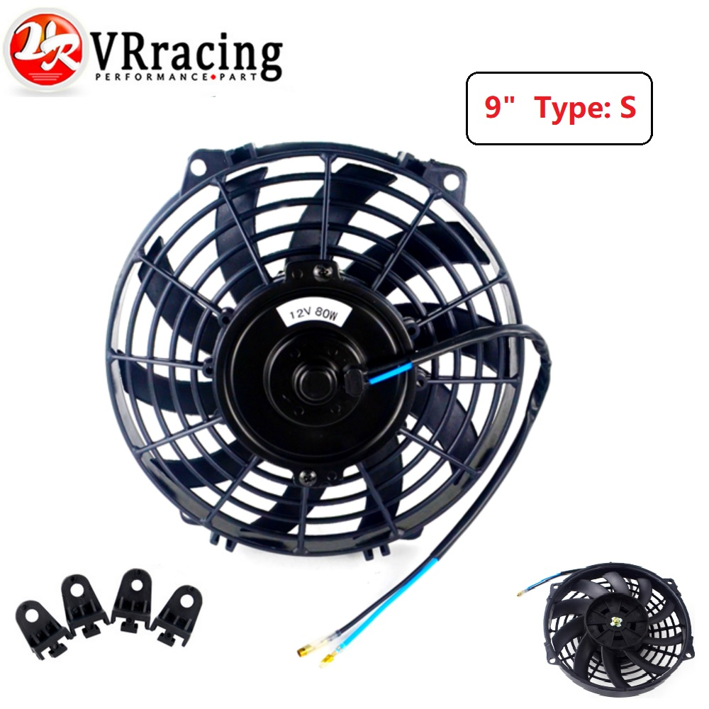 "10/"" inch 12V 80W Universal Electric Fan Push//Pull Radiator Cooling /& Fittings UK"