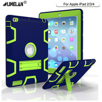 For Apple IPad2 IPad3 IPad4 Case Back Cover Tablet Silicon PC Shockproof Hybrid Heavy Duty Rugged