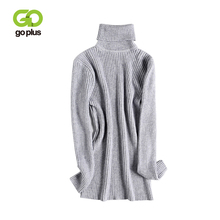 GOPLUS 2019 Autumn Winter Knitted Sweaters Women Soft Warm Turtleneck Long Sleeve Pullovers Ladies Casual Basic Top Female