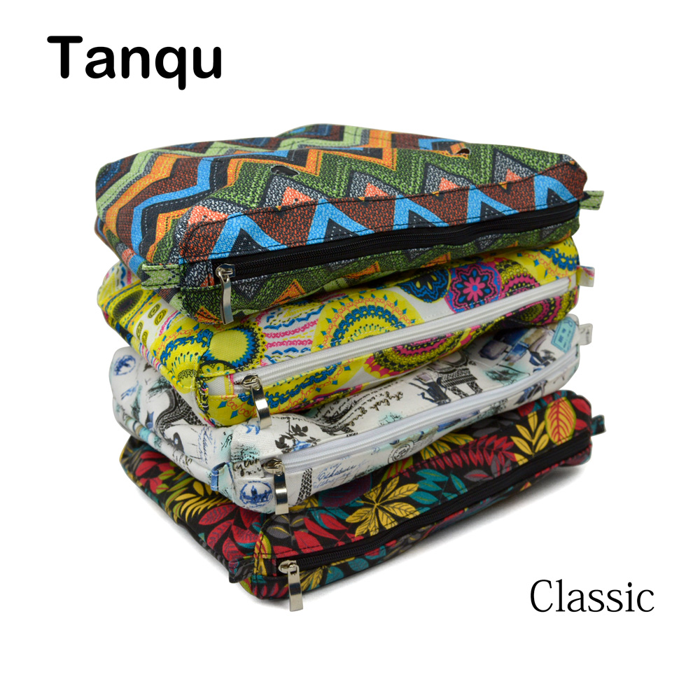 TANQU New Colorful Waterproof Inner Lining Insert Zipper Pocket For Classic Obag Canvas  Inner Pocket For O Bag