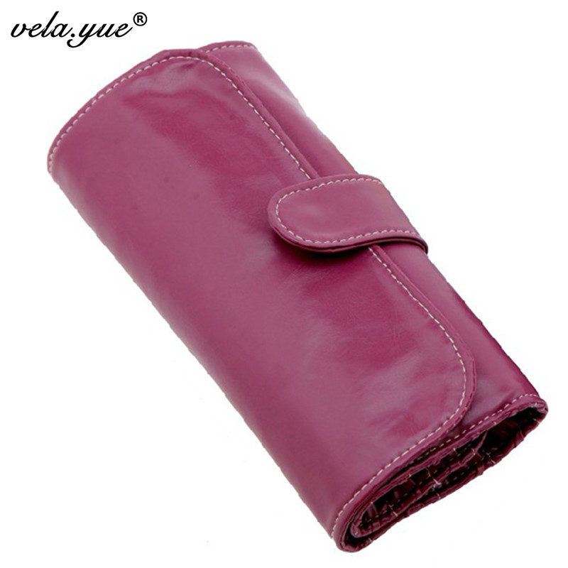 10 12 Slots Makeup Brushes Bag For Makeup Brushes Protect Case Pouch Violet Free Shipping