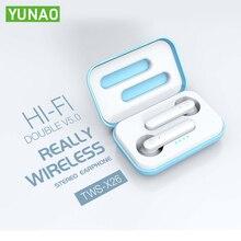 YUNAO X26 Wireless Bluetooth earphones Earphones with Charging box Support Siri mic noise canceling sport waterproof earphone