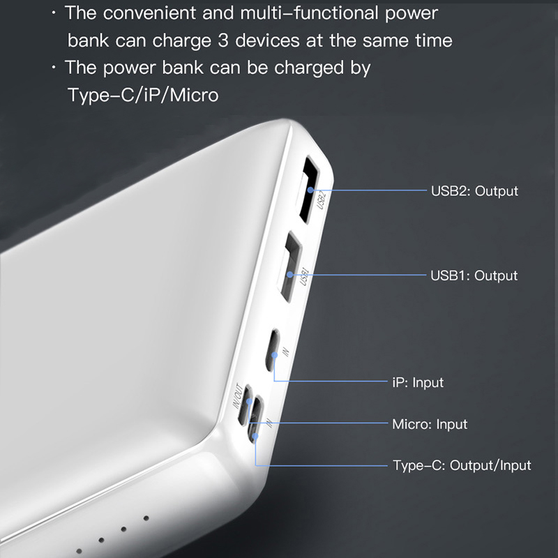 Baseus 30000mah Big Capacity Powerbank For Mobile External Battery Phone Quick Charger 3.0 Type C Power bank For iPhone Samsung 3