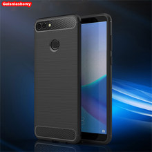 Case For Huawei Y3 Y5 Y6 Y7 Y9 Nova 2 2i 2s 3 3e 3i Lite Pro Plus 2017 2018 2019 Carbon Fiber TPU Phone Case Cover Shell Capa(China)