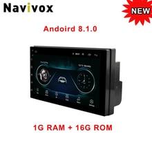 Navivo Android 8.1 2 Din Auto radio Multimedia Video Player auto Universale Stereo GPS MAP Per Laga Nissan Hyundai Kia toyota