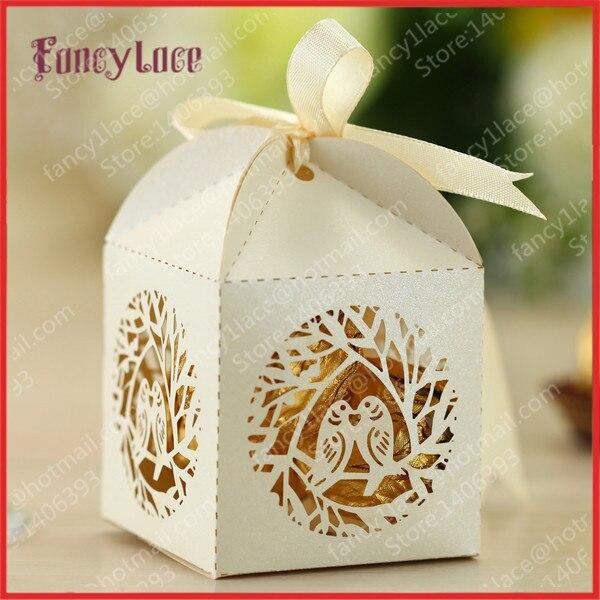 Wholesale Laser Cutting Love Bird Wedding Favor Box Gift Candy Favor ...