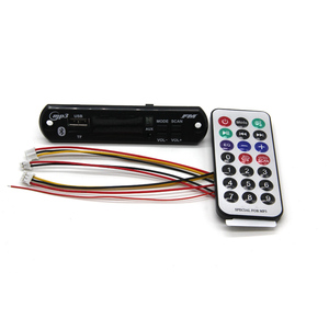 Image 1 - D091BT 핸즈프리 MP3 플레이어 디코더 보드 5V 12V 블루투스 5.0 6W 앰프 자동차 FM 라디오 모듈 지원 FM TF USB AUX 레코더